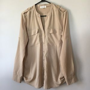 Calvin Klein Button Down Top Women's Medium